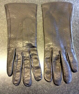 Vintage Ladies Leather Gloves . Good Condition.