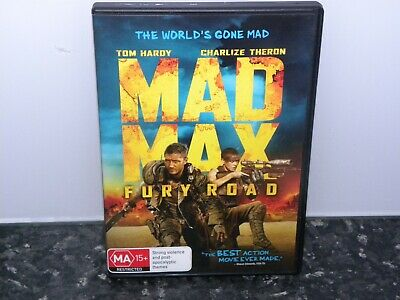 Mad Max Fury Road - Tom Hardy - Dvd - R4 - Vgc