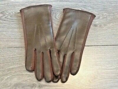 VINTAGE LADIES DOELON SPONGEABLE GLOVES MADE IN ENGLAND 1950's size S