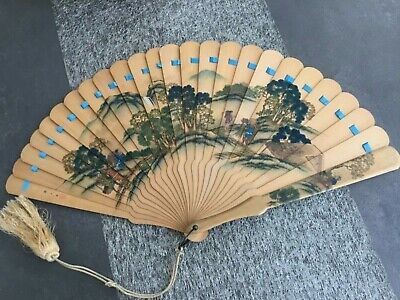 Japanese Hinoki Wood Brise Fan