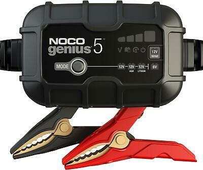 NOCO GENIUS5 5-Amp 6V 12V Car Battery Charger and Maintainer Multiple Modes
