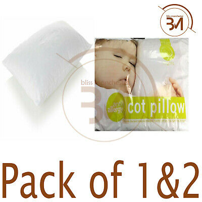 Hollowfibre Anti-Allergy Cot Bed Soft Pillows Nursery Kids Baby Junior 40x60cm