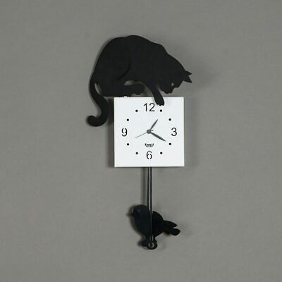 Reloj de Pared Hunter Cat Péndulo - Arti E Mestieri - Made IN Italy