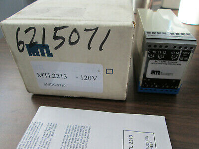 New Measurement Technology MTL2213 3 Channel-Switch/Proximity Detector Relay