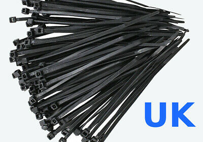 1000 x CABLE TIES Tie Wraps Zip Locks WHOLESALE 100mm 200mm 300mm ALL SIZES New