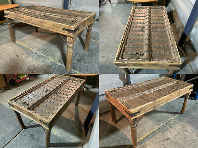 Rustic antique dining table mughal indian mogul haveli doors 17th/18th century