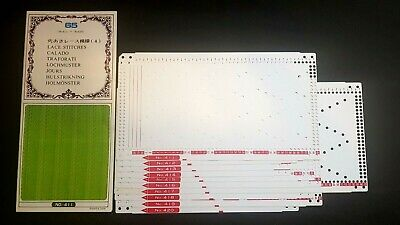 Pc357 Brother Knitting Machine Punch Cards Patterns Series 65 411-420 Lace X10
