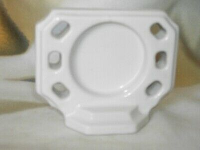 Vintage White Ceramic Bath Room Wall Mount Cup / Toothbrush Holder  Restoration