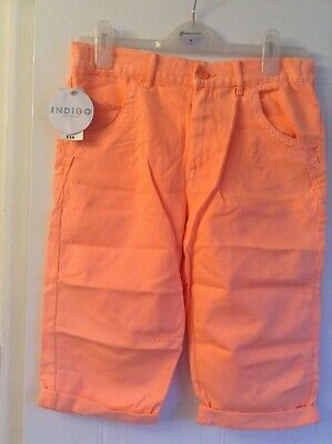 Neon orange shorts for girl 12-13 yrs, adjustable waist, pockets. BNWT, rrp £14