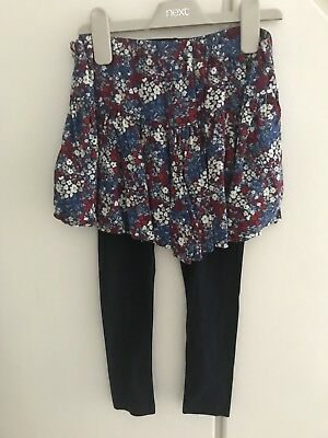 BNWOT Girls Next Floral Shorts & Navy Leggings, Age 6 *2 Piece Set*