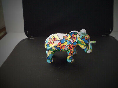 Hamilton Coll.,Reflections of the Elephant Collection figurine, FLOWER,STANDING