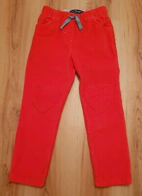 Mini Boden Girls Orange Cord Trousers. Age 5 years