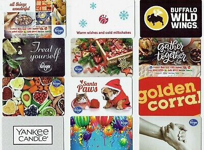 Gift Cards / Collectible -YOU CHOOSE 3 for $1.59 - Golden Corral,Christmas,Food