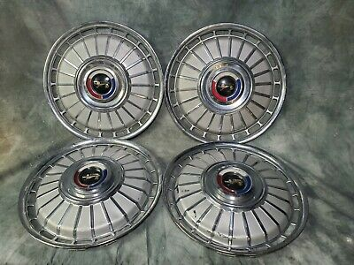"4 OEM Ford 14"" Hub Cap Wheel Cover Crested 62 Galaxie Galaxy"