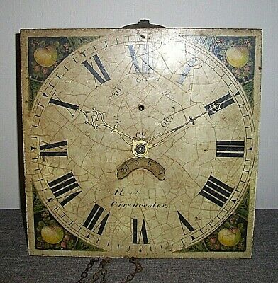 Antique 19th Century Haviland of Cirencester Longcase Clock Movement and Dial