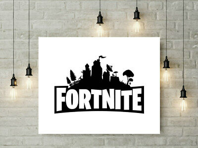 Fortnite Gaming Poster Wall Art Print A4 Home Decor  Gift Kids Decor