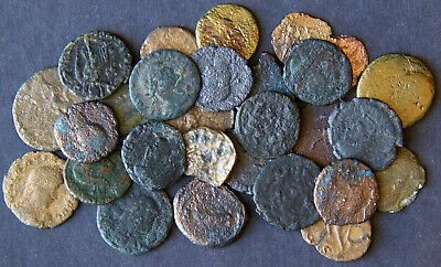 Lot of 28 Ancient Roman Bronze Coins