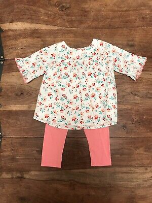 M&S Autograph Baby Girl Outfit Summer Legging Set 9-12 Genuinely Worn Once