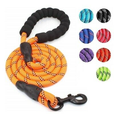 Dog Leash Nylon Long Heavy Duty Standard Braided for Medium Large Dogs Walking
