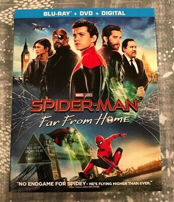 Spider-Man Far From Home, 2019 (Blu-Ray + DVD + Digital) Brand New, Sealed!