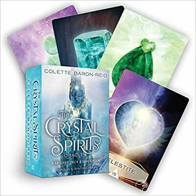 The Crystal Spirits Oracle: 58-Card Deck and Guidebook by Colette Baron-Reid EUC