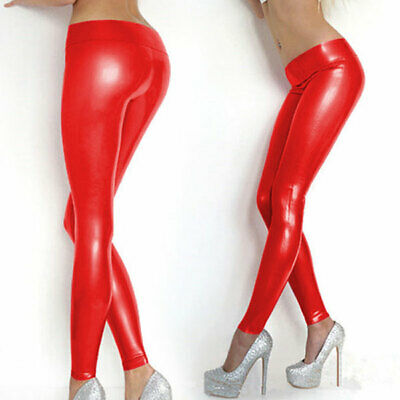 100% Unisex Latex Rubber Trousers Red Long Sexy Tight Pants Fashion Jeans S-XXL