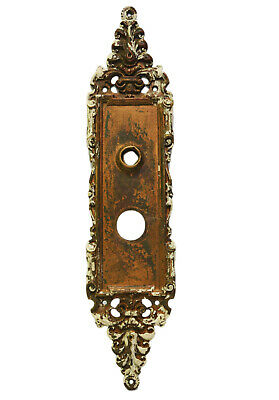 Antique French Brass Door Plate Empire Louis XV Cast Bronze Metal Ornate SALVAGE