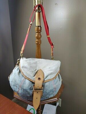 "Authentic Louis Vuitton Blue Denim ""Sunshine"" Handbag"
