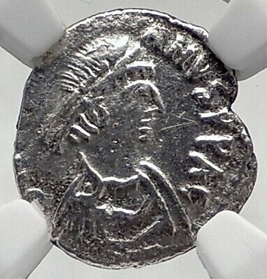 JUSTINIAN I the Great Ancient 533AD Carthage Siliqua Byzantine Coin NGC i80517