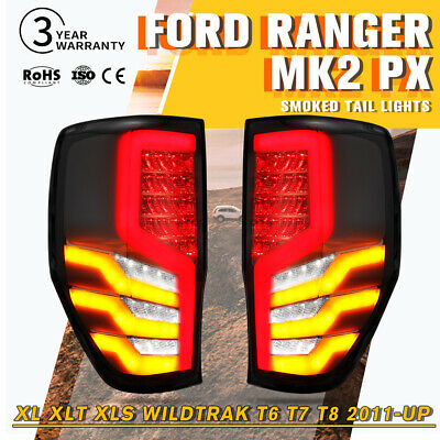 2X LED Tail Lights For Ford Ranger PX MK2 2011-ON XL XLT XLS Wildtrak T6 T7 T8