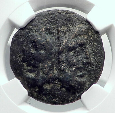 Roman Republic As 86BC Authentic Ancient Rome Coin JANUS GALLEY SHIP NGC i81371