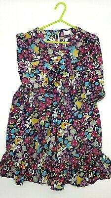 Girls Clothes 9 Years Outfit NEXT Pink Navy Mix Floral Party Occasion Dress