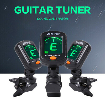 LCD Clip on Chromatic Acoustic Electric Guitar Bass Ukulele Universal Tuner