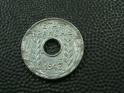1943 French Indochina 1//4 Cent 1 Coin Only Circulated Scarce! 12 Available
