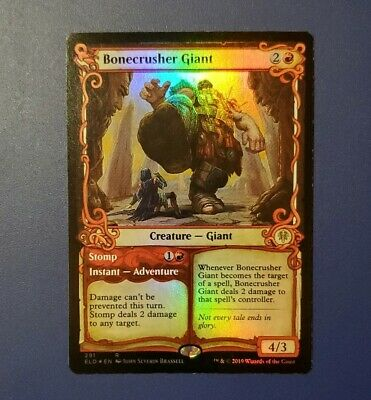 Bonecrusher Giant - Foil Showcase - NM - MTG Throne of Eldraine