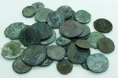 Lot of (32) Uncleaned Ancient Roman Coins