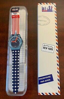 """DESTINATION SWATCH Greetings from LAS VEGAS Nevada New in Box SUOB716C """"LIMITED"""""""