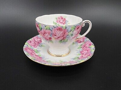 Royal Standard Rose of Sharon Tea Cup Saucer Set Bone China England