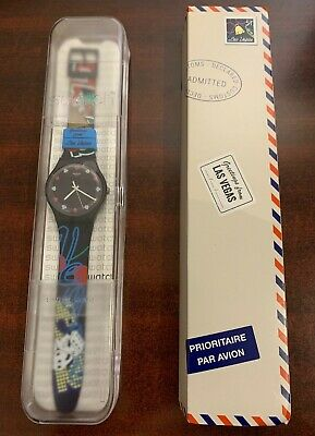 """DESTINATION SWATCH Greetings from LAS VEGAS Nevada New in Box SUOZ234 """"LIMITED"""""""