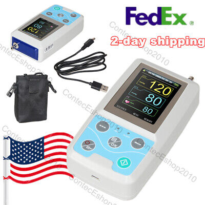 FDA Ambulatory Blood Pressure Monitor NIBP Holter 24h Recorder, PC Software, USA