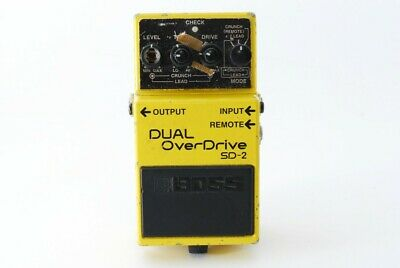 BOSS SD-2 SD 2 Dual Overdrive Distortion Guitar Effects Pedal