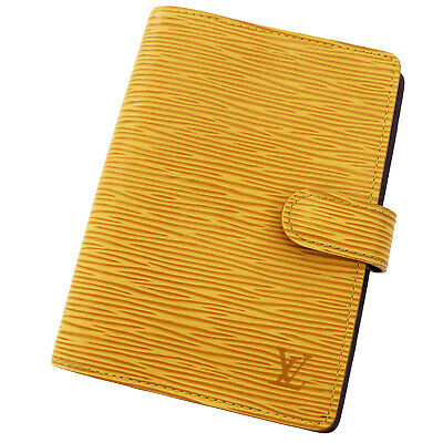 LOUIS VUITTON Agenda PM Day Planner Cover Yellow Epi R20059 Vintage Auth GG105 M