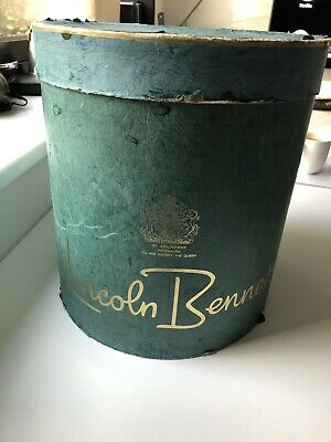 Vintage Lincoln Bennett Card Top Hat Box