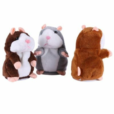 Talking Hamster Repeats What You Say Electronic Pet Plush Toy Kids Buddy Gift II