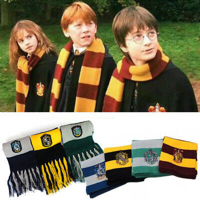 Harry Potter Gryffindor Slytherin Ravenclaw Hufflepuff Scarf Xmas Gift Cosplay