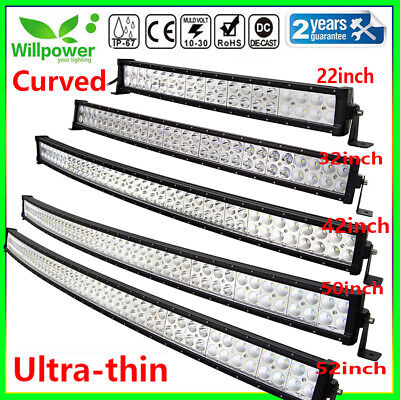 Curved Uitra-thin 32inch 180W LED Work Light Bar for offroad Car SUV  Jeep 4WD