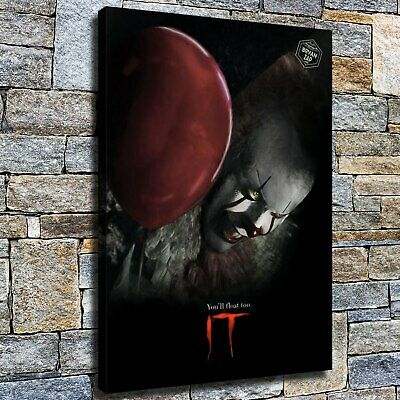 """12""""x18"""" Red balloon clown HD on Canvas Home Decor Room Wall Art painting Picture"""