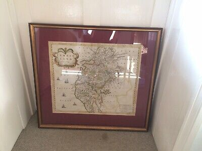 Antique Map Of Cumberland by Robert Morden