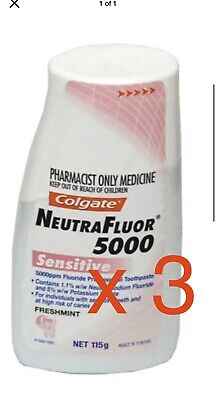 3 X Neutrafluor 5000 Sensitive Toothpaste 115g Liquid Gel Formula