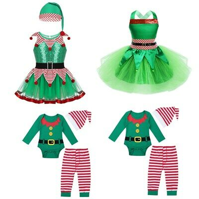 Kids Baby Girls Fairy Christmas Tutu Dress Cosplay Party Fancy Outfit Costume
